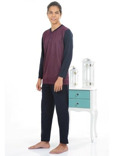Akbeniz Erkek Pijama Takım Bordo